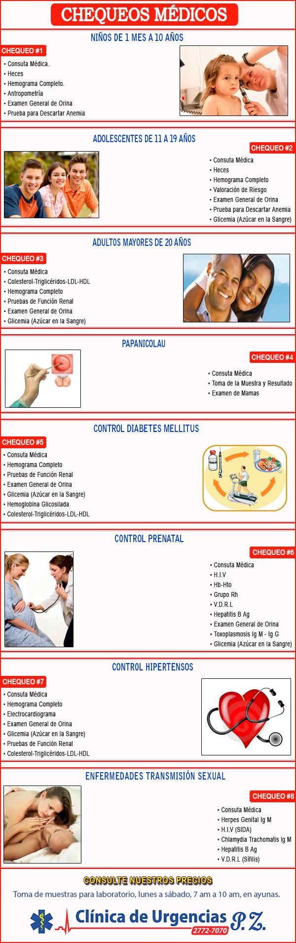 Promoción Chequeos Médicos